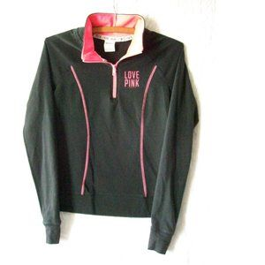 "PINK by VS ""LOVE PINK"" 1/4 Zip Pullover - Size XS"